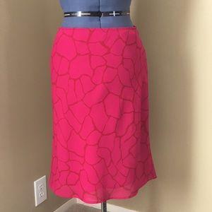 Pink Animal Print Express Pencil Skirt S